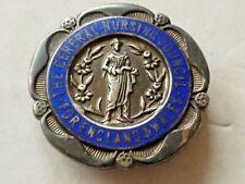 More details for vintage silver enamel badge general nursing council england & wales s.r.n. c1928