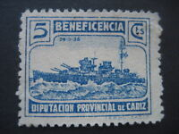 Stamp Charity Provincial Council Prvincial of Cadiz 5 Cts