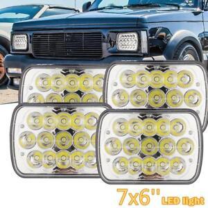 "4Pcs 5X7 7X6""inch Sealed LED Headlights Square Hi-Lo Beam Headlamp Driving Light"