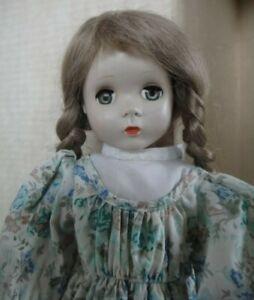 "Antique Vintage 17"" Hard Plastic Doll - Unmarked- Maggie Face"