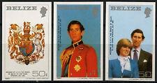 Belize 1981 SG # 614-616 Royal Wedding MNH Imperf Set #r 52