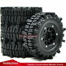 4pcs RC 1.9 Mud Slingers Crawler Tire Tyre Height 93mm & 1.9 Beadlock Wheel Rim