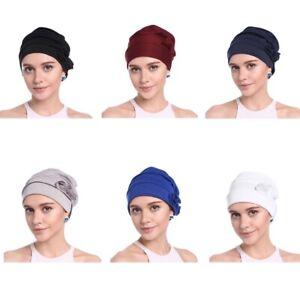 Women Ruffle Chemo Turban Headband Scarf Beanie Cap Hat for Cancer Patient