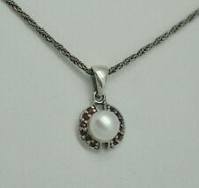 Runde Echtschmuck-Halsketten & -Anhänger mit Perle für Damen