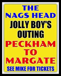 JOLLY BOY'S OUTING DEL BOY ONLY FOOLS AND HORSES MARGATE METAL PLAQUE SIGN 144