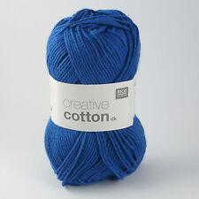 RICO CREATIVE Coton DK - 100% Coton Tricot & Crochet Yarn-Bleu Royal 012