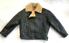 Vintage Original Leather Shearling Sheepskin Aviator Bomber Flying Jacket M