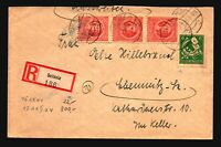 Germany DDR 1946 Thuringia Registered Cover / RARE - Z17186