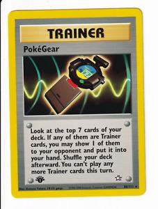 PokéGear 1st Edition Regular Rare Neo Genesis 88/111 Pokémon TCG Lightly Played