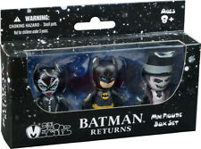 "BATMAN: Returns - 'Mini Mez-Itz' 2"" Action Figure 3-Pack (Mezco) #NEW"