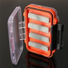 Double side Waterproof pocket Fly fishing box Slid foam insert Hold 170 flies