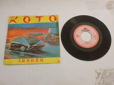 "KOTO - Jabdah - 1986 Dutch 2-track 7"" Juke Box Vinyl Single"