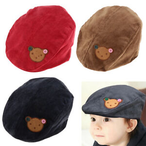 Baby Boy Kids Toddler  Cabbie Flat Peaked Hat River Cap