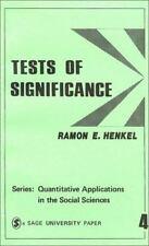 Quantitative Applications in the Social Sciences: Tests of Significance Vol....