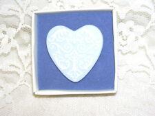 Blue W/ White Wedgwood Heart Pin Nib
