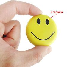 Compact Secret Smile Badge DVR Hidden Covert Spy Camera Smiley Face Pin