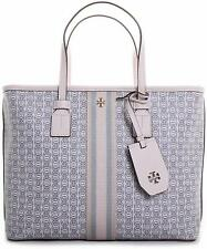 Tory Burch Gemini Link Canvas Small Tote in New Ivory