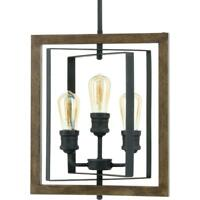 Home Decorators Collection Palermo Grove 14 in. 3-Light Gilded Iron Pendant