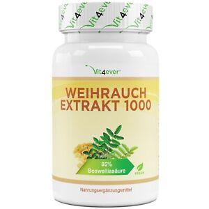 Weihrauch - 130 Kapseln (vegan) - mit 1000 mg pro Tag 85% Boswelliasäure