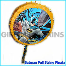 BATMAN PINATA SUPER HERO BIRTHDAY PARTY SUPPLIES PULL STRING HALLOWEEN GAME