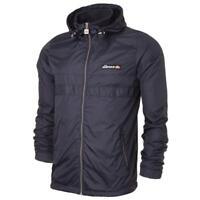 Ellesse Men's Jacket Wind Cheater Hooded Black Medium