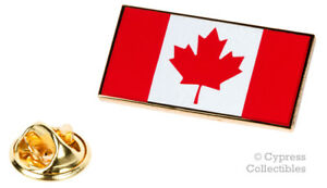 CANADA FLAG ENAMEL LAPEL PIN RED CANADIAN MAPLE LEAF TIE TACK BADGE EMBLEM