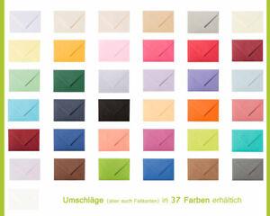 10 Briefumschläge, Briefhüllen DIN C5 (162 x 229 mm), feuchtklebend 120g für A5