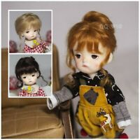QQ10-81  Cappuccino  BJD/OB11 Doll  Mohair Wig  1/10 4-5inch
