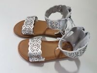 Toddler Girls Dara Two Piece Gladiator Sandals - Cat & Jack - Silver - NWT
