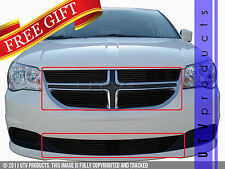 GTG 2011 - 2016 Dodge Grand Caravan 5PC Gloss Black Overlay Billet Grille Kit
