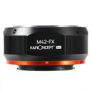K&F High Precision Adapter Pro for M42 Screw mount lens to Fuji X camera X30 XF1