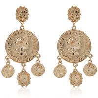 Bohemia Coin Earrings Drop Gypsy Statement Earrings Tribal Ear Stud Jewe WG