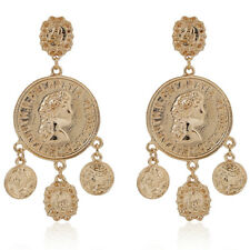 Bohemia Coin Earrings Drop Gypsy Statement Earrings Tribal Ear Stud Jewelry^