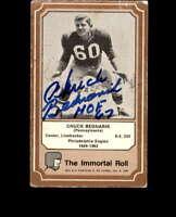 Chuck Bednarik Hand Signed 1975 Immortal Roll Philadelphia Eagles Autograph