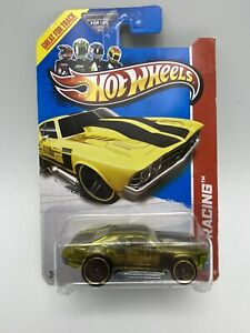 2013 Hot Wheels Yellow 1969 Chevy Chevelle HW Racing 1/64 Scale FREE SHIPPING