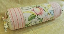 Pillow made w Ralph Lauren Home Lake Floral & Summer Cottage Stripe Fabric NEW