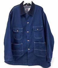 Vintage J C Penneys Big Mac Denim Blanket Lined Jacket Work Coat Made Usa Sz Xl?