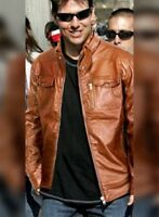 TOM CRUISE COGNAC LEATHER JACKET - BNWT