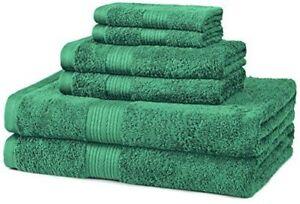 Bath Towel 6 Piece Set Bathroom Towels 100% Egyptian Cotton Luxurious 7 Colors
