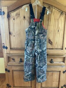 Boys Kids Youth Walls Green Brown Camouflage Hunting Snow Bibs Pants Size M