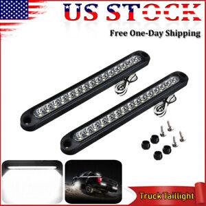 """2x 10"""" LED Trailer Reverse Back Up Light Bar Sealed White RV Truck Tail Lights"""