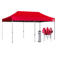 Red 10X20 Ez Pop Up Canopy Commercial Outdoor Party Beach Tent w/Wheeled Bag