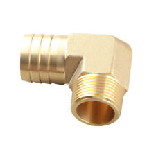 """1""""  Male 90 Elbow Brass Hose Barbs Barb to 3/4"""" NPT Pipe Male Thread"""