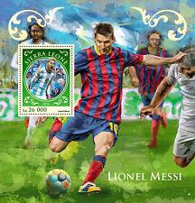 Sierra Leone 2016 MNH Lionel Messi 1v S/S Football Soccer Stamps