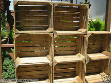 4 Wooden Apple Crates, ideal storage boxes/display, lighter shade