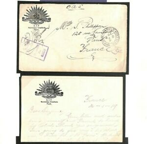 AUSTRALIA Cover France FPO Contents *SOLDIER CAUGHT AWOL* Letter(WW1) 1919 MS122