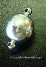 12mm Smooth ball strong magnetic jewelry clasp Sterling Silver plated fpc103