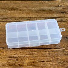 10 Cells Slot Transparent Storage Box Cover Shell Electronics Component Box