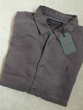 AllSaints Men's Linen Casual Shirts & Tops
