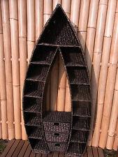 Regal Boot Schiff Wasserhyazinthe Wandregal CD Regal Natur Korb Case 130 cm sw